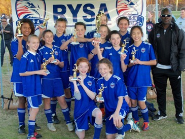 U12 Girls Win RYSA Premier Division!